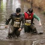 Anche Batman alla maratona del fango