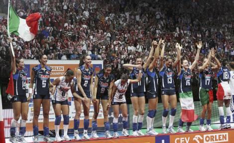 Pallavolo femminile: l'Italia è campione d'Europa