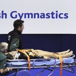 Terribile caduta di testa per la ginnasta colombiana Gil Ortiz