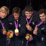 Aspromonte, Baldini, Cassarà, Avola. Gli azzurri si aggiudicano l'oro nel fioretto a squadre.